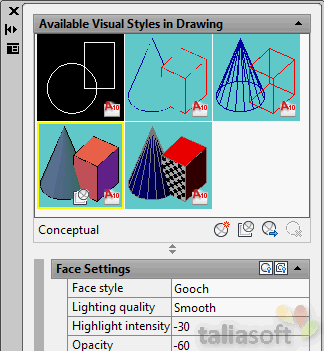 autocad-visual-styles